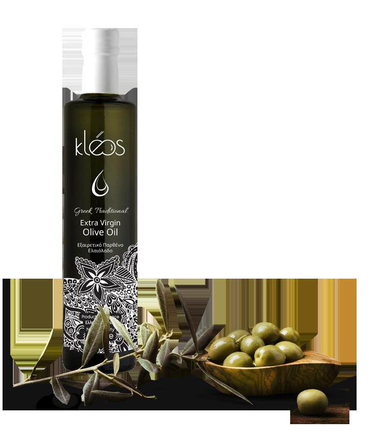 kleos Bottle + olives